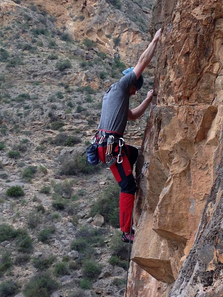 Photo: Matt on Gesano (6a+) at Callosa, November 2014